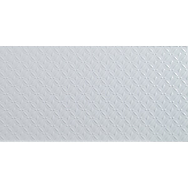 """MSI NDYMPAT1224G Dymo - 24"""" x 12"""" Rectangle Wall Tile - Polished Patterned Visual - Sold by Carton (16 SF/Carton) - White"""