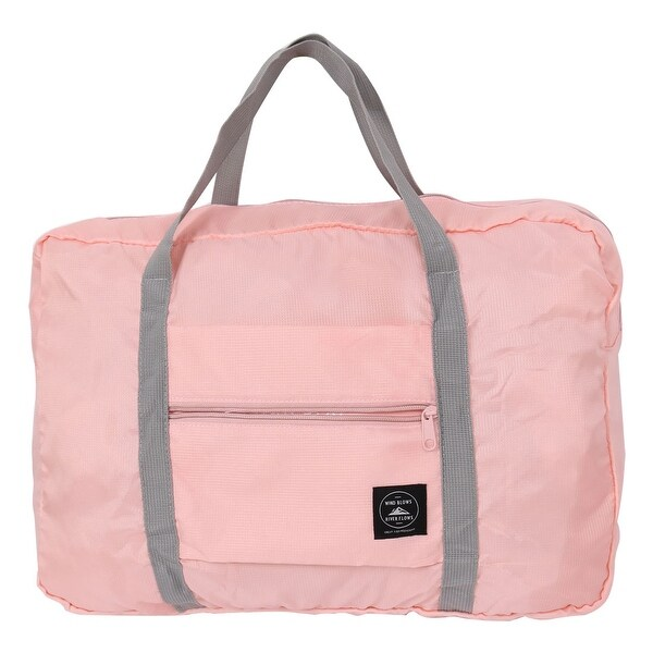 Unique Bargainszippered Foldable Handbag Clothes Luggage Ng Travel Storage Bag Light Pink