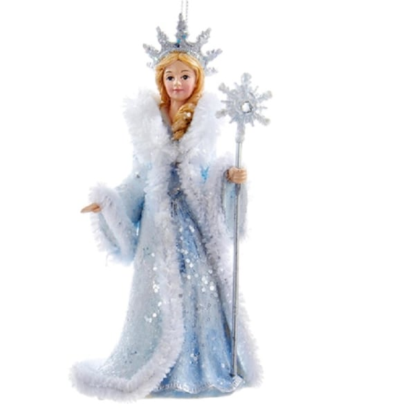 "5"" Ice Palace Blue and Silver with Holographic Glitter Snow Queen Decorative Christmas Ornament"