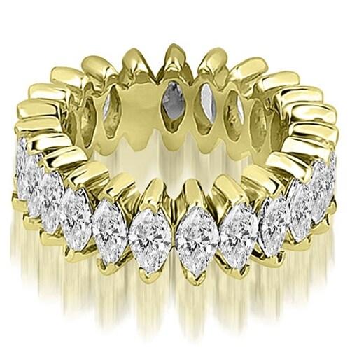 5.75 cttw. 14K Yellow Gold Marquise Diamond Eternity Ring