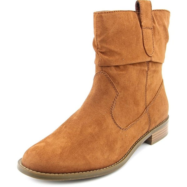 Style & Co Pagee Women Round Toe Synthetic Tan Ankle Boot