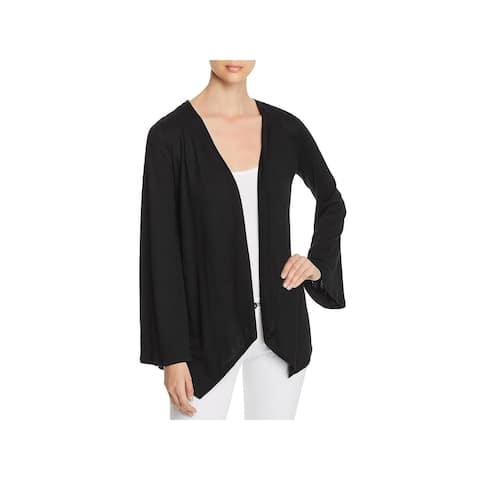 Cupio Womens Cardigan Top Lace Back Open Front