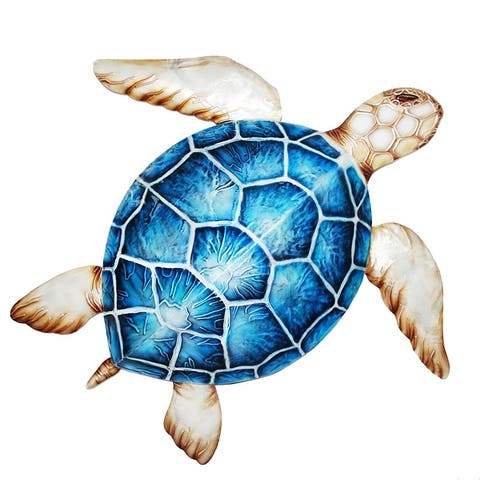 Sea Turtle Wall Decor Blue