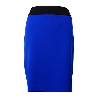 Kasper Women's Crepe Two Tone Skirt - electric blue/black (4 options available)