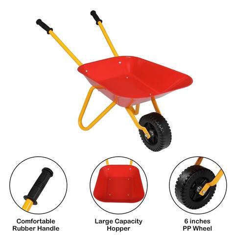 Kids Sand Digger Sandbox Toy Wheelbarrow Dumper