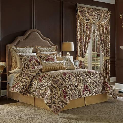 Croscill Julius 4-pc. Red/Brown/Gold Damask Bedding Set