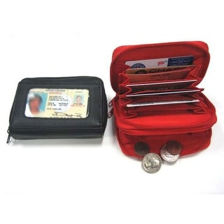 Improving Lifestyles Leather Pouch Wallet ID & Credit Card Coin Holder Black RLIL3135BK