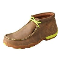 Twisted X Casual Shoes Mens Driving Mocs Leather Bomber Neon