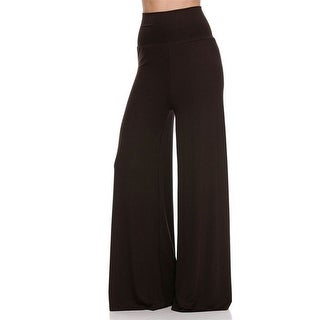 cd6b4af402664 Shop Solid Modal Rayon High Waist Wide Leg Palazzo Pants in Dark Brown -  Free Shipping On Orders Over  45 - Overstock - 23042727