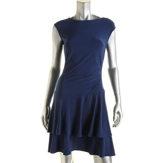 American Living Womens Matte Jersey Tiered Wear to Work Dress