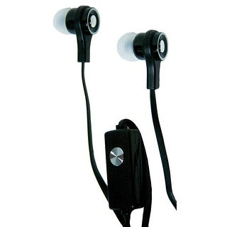 Black Skinny Earbuds w Mic and Audio Cont
