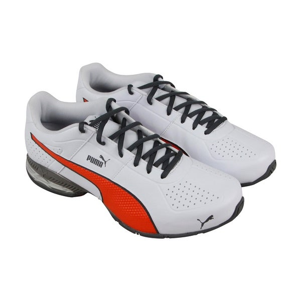 eefaee48b58 Shop Puma Cell Surin2 Fm Mens White Leather Athletic Lace Up Running ...