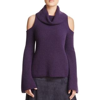 Elie Tahari Womens Torrence Sweater Turtleneck Sweater Cashmere Open Shoulder