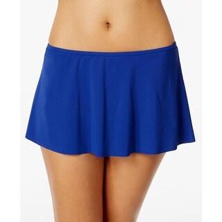 Profile by Gottex Womens Skirt High Waist Swim Skirt Blue 10