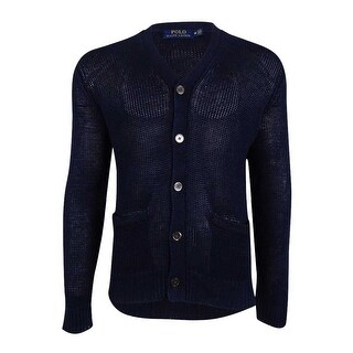 Polo Ralph Lauren Men's V-Neck Cardigan - Ink Blue