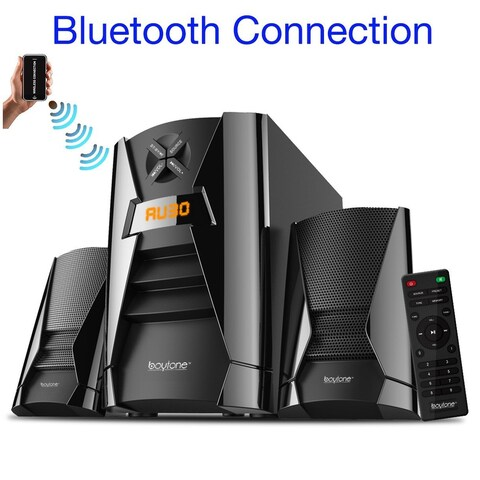 Boytone BT-222F, Wireless Bluetooth 2.1 Multimedia 40 watts, Powerful Bass System with FM Radio, Remote, Aux Port, USB, SD Slot