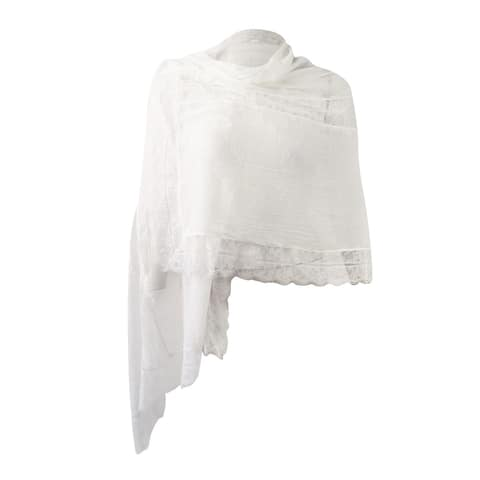 INC International Women's Lace Insert Evening Wrap - OS