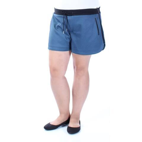 KIIND OF Womens Green Textured Short Size: XL