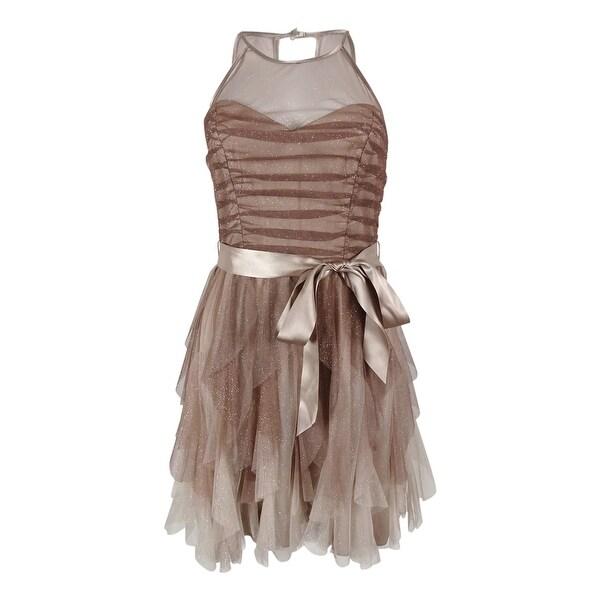 8073687980e Shop Teeze Me Juniors  Sleeveless Glitter Dress - Mink Multi - 7 8 - On Sale  - Free Shipping On Orders Over  45 - Overstock - 14817566