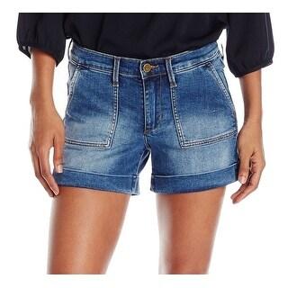 Buffalo David Bitton NEW Blue Women's Size 29 Cuffed Denim Shorts