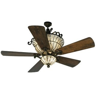 """Craftmade K10659 Cortana 54"""" 5 Blade DC Indoor Ceiling Fan - Blades, Remote and Light Kit Included"""