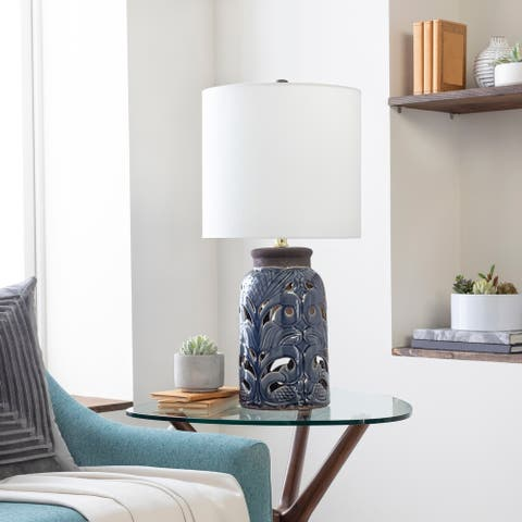 Vina Vintage Cut-Out Ceramic 27-inch Table Lamp