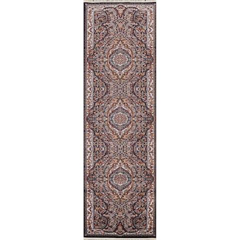 "Traditional Tabriz Persian Staircase Runner Rug Home Decor Carpet - 3'3"" x 13'2"""