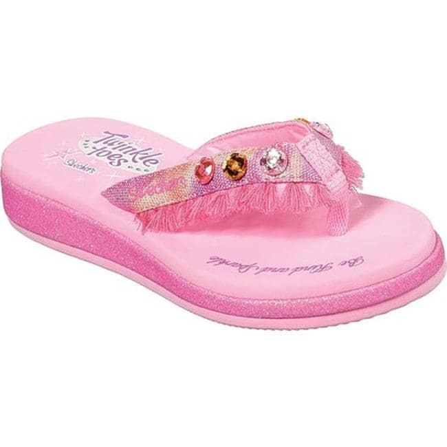 biggest selection select for best search for original Skechers Girls' Twinkle Toes Sunshines Tassel Cuties Thong Sandal Pink/Multi
