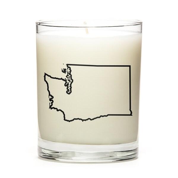 State Outline Candle, Premium Soy Wax, Washington, Fresh Linen