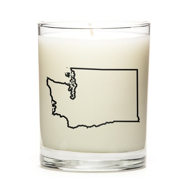 State Outline Soy Wax Candle, Washington State, Apple Cinnamon