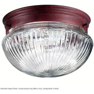 Quorum International Q3012-6 1 Light Flushmount Ceiling Fixture with Clear Ribbed Glass Shade