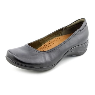 Hush Puppies Alter Pump Women Round Toe Leather Black Loafer
