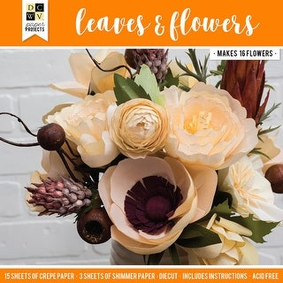 Dcwv Paper Projects-Leaves & Flowers - Makes 16