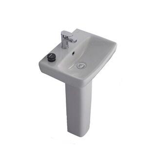 "Bissonnet E14831-54920 Energy 18"" Rectangular Vitreous China Pedestal Bathroom S - White - n/a"