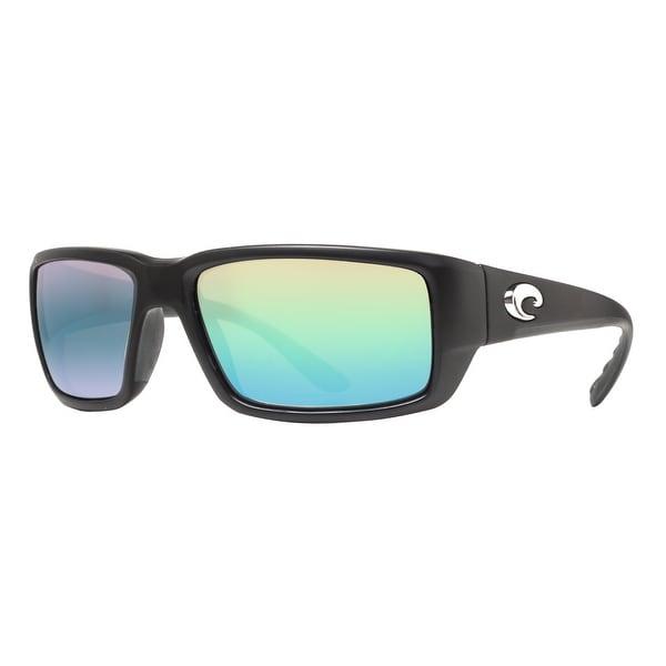 0b25577a5ec03 Costa Del Mar Fantail TF11GMGLP Matte Black 400G Green Mirror Wrap  Sunglasses - MATTE BLACK -