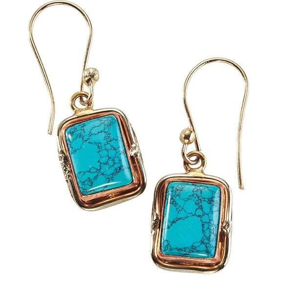 Women's Quadra Turquoise Silver Dangle Earrings