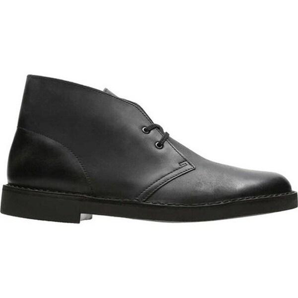 Shop Clarks Men's Bushacre 2 Boot Black Waxy Leather Free