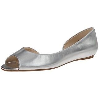 Nine West Womens bachloret Peep Toe Ballet Flats