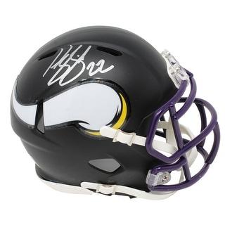 Harrison Smith Minnesota Vikings Flat Black Matte Riddell Speed Mini Helmet