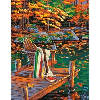 "Paint Works Paint By Number Kit 14""X11""-Golden Pond - GOLD"