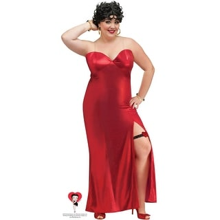 Fun World Betty Boop Gown Plus Size Costume - Red - plus size