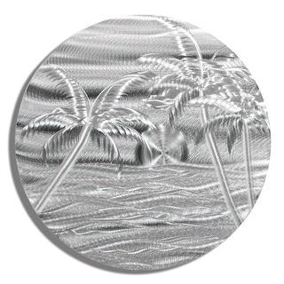 Statements2000 Tropical Metal Wall Art Beach Ocean Accent Hanging Decor by Jon Allen - Silver Beach