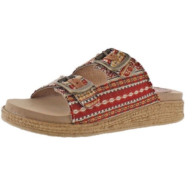 Sbicca Espadrille Buckle Women's Buckle Slide Sandals