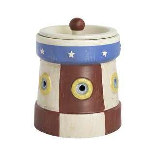 Home Indoor Decorative Scented Lighthouse Full Size Ceramic Wax Warmer - Red, White, Blue
