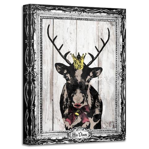 Ready2HangArt 'His Vixen' Holiday Canvas Wall Art by Olivia Rose