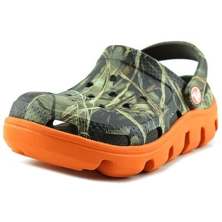 Crocs Duet Sport Realtree Youth Round Toe Synthetic Green Clogs