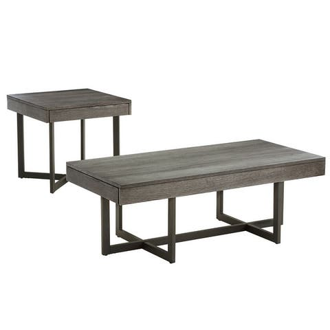 Eldersley Wood Finish Table with Drawer(s) by iNSPIRE Q Modern