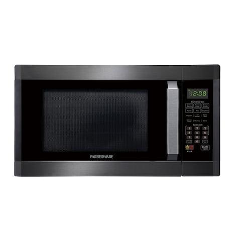 Farberware Black FMO16AHTBSD 1.6 Cu. Ft. 1100-Watt Microwave Oven, Black Stainless Steel