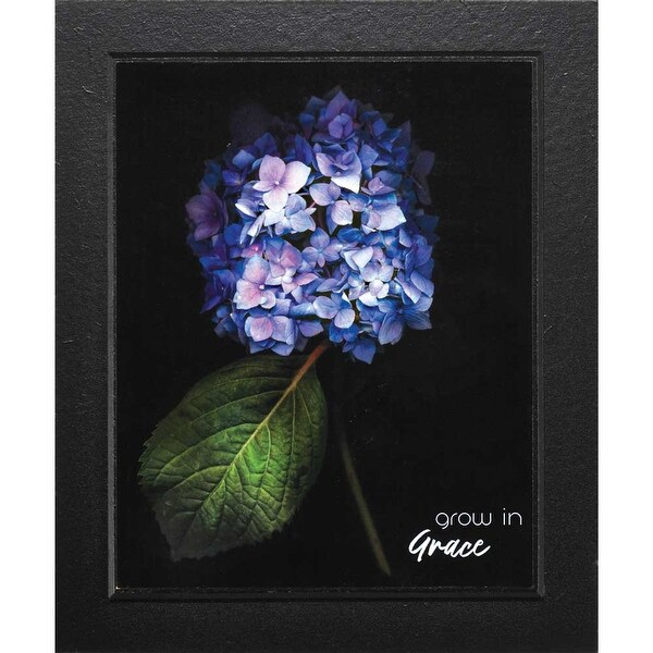 "Grow In Grace Blue Hydrangea Flower Wood Plaque 12"" x 10"" - other-frame-size"