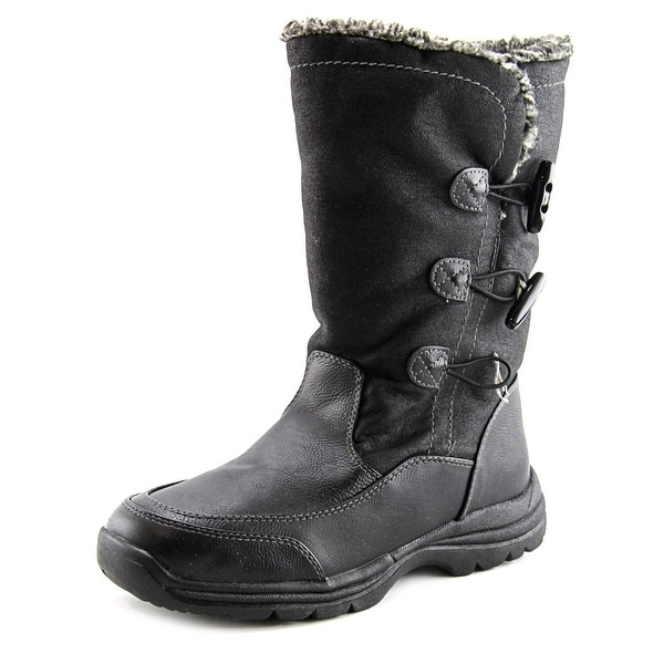 Weatherproof Milo Women Round Toe Synthetic Black Winter Boot